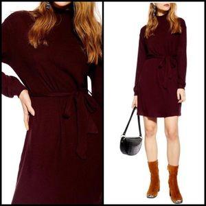 NWT Revamped Burgundy Turtleneck Sweater Dress